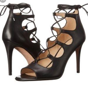 Coach Kira lace up heel.